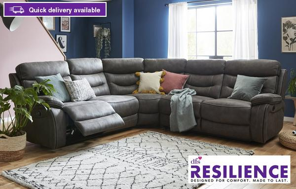 Fabric Corner Sofas In A Range Of Great, L Shape Sofas Dfs
